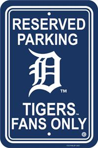 MLB Detroit Tigers Plastic Parking Sign