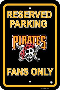 MLB Pittsburgh Pirates Plastic Parking Sign