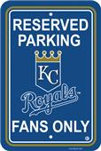 MLB Kansas City Royals Plastic Parking Sign