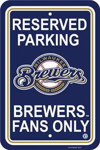 MLB Milwaukee Brewers Plastic Parking Sign