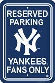 MLB New York Yankees Plastic Parking Sign