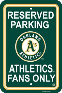 MLB Oakland Athletics Plastic Parking Sign