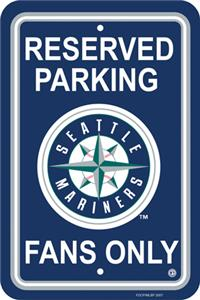 MLB Seattle Mariners Plastic Parking Sign