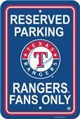MLB Texas Rangers Plastic Parking Sign