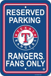 MLB Texas Rangers Plastic Parking Sign