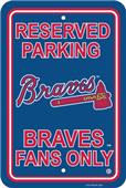 MLB Atlanta Braves Plastic Parking Sign