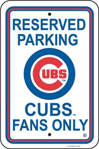 MLB Chicago Clubs Plastic Parking Sign