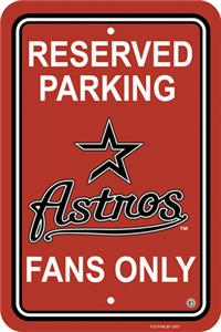 MLB Houston Astros Plastic Parking Sign
