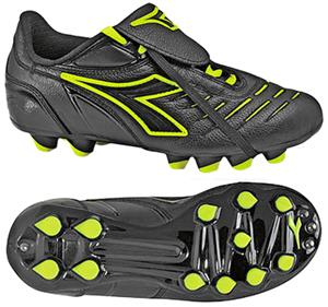 Diadora Maracana MD PU JR Soccer Cleats - Blk/Yell