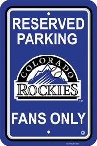 MLB Colorado Rockies Plastic Parking Sign