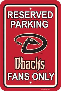 MLB Arizona Diamondbacks Plastic Parking Sign