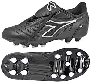 Diadora Maracana MD PU JR Soccer Cleats - Black