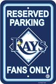 MLB Tampa Bay Rays Plastic Parking Sign