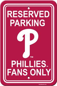 MLB Philadelphia Phillies Plastic Parking Sign