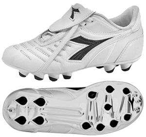 Diadora Maracana MD PU JR Soccer Cleats - White