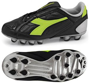 Diadora DD-Eleven MD PU JR Soccer Cleats - Black
