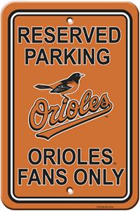 MLB Baltimore Orioles Plastic Parking Sign