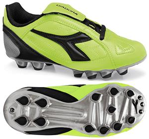 Diadora DD-Eleven MD PU JR Soccer Cleats - Yellow