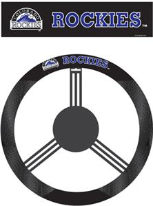 MLB Colorado Rockies Steering Wheel Cover
