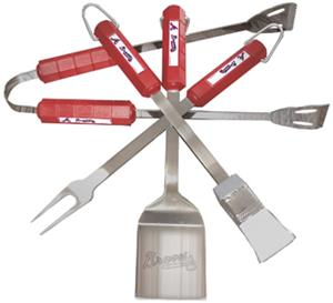 MLB Atlanta Braves 4 Piece BBQ Grilling Set