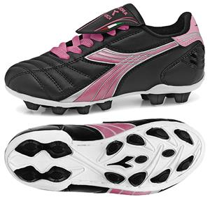 Diadora Forza MD JR Soccer Cleats - Black/Pink