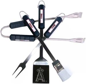 MLB Los Angeles Angels 4 Piece BBQ Grilling Set