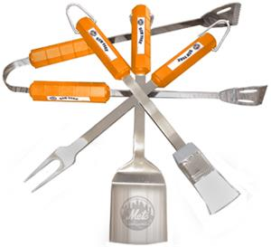 MLB New York Mets 4 Piece BBQ Grilling Set