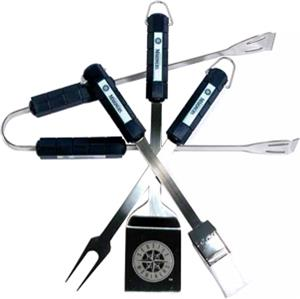 MLB Seattle Mariners 4 Piece BBQ Grilling Set