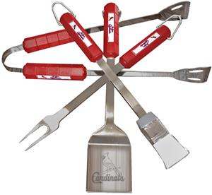 MLB St. Louis Cardinals 4 Piece BBQ Grilling Set