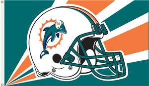 NFL Miami Dolphins 3' x 5' Flag w/Grommets