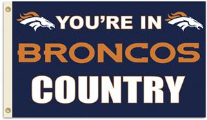 NFL You're in Broncos Country 3' x 5' Flag