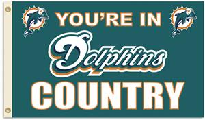 NFL You're in Dolphins Country 3' x 5' Flag