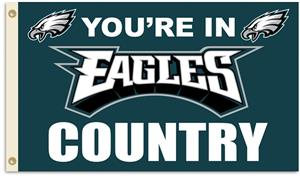 NFL You&#39;re in Eagles Country 3&#39; x 5&#39; Flag