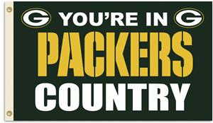 NFL You're in Packers Country 3' x 5' Flag