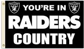 NFL You're in Raiders Country 3' x 5' Flag
