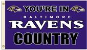 NFL You're in Ravens Country 3' x 5' Flag