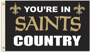NFL You're in Saints Country 3' x 5' Flag