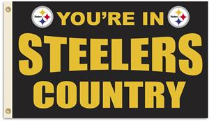 NFL You're in Steelers Country 3' x 5' Flag