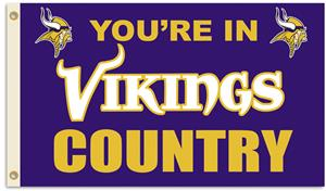NFL You're in Vikings Country 3' x 5' Flag