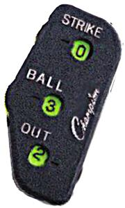 Champion 3 Wheel Baseball Umpire Indicator (DOZEN)