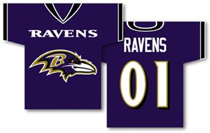 NFL Baltimore Ravens 2-Sided Jersey Banner