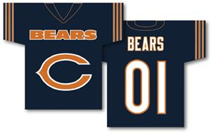 NFL Chicago Bears 2-Sided Jersey Banner