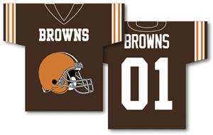 NFL Cleveland Browns 2-Sided Jersey Banner
