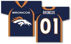 NFL Denver Broncos 2-Sided Jersey Banner