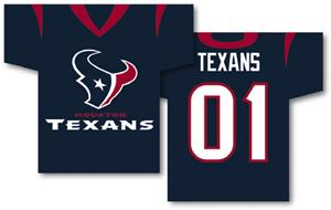NFL Houston Texans 2-Sided Jersey Banner