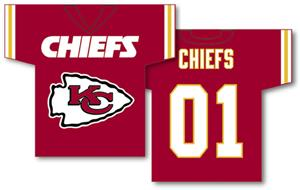 NFL Kansas City Chiefs 2-Sided Jersey Banner