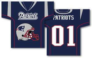 NFL New England Patriots 2-Sided Jersey Banner