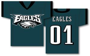 NFL Philadelphia Eagles 2-Sided Jersey Banner