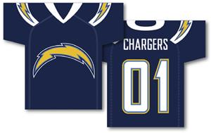 NFL San Diego Chargers 2-Sided Jersey Banner