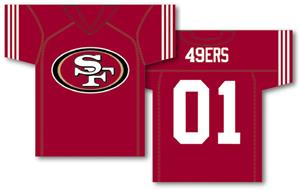 NFL San Francisco 49ers 2-Sided Jersey Banner
